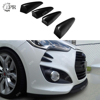 FRP Devil Claws For Hyundai Veloster Turbo Glass Fiber Front Bumper Canard (4pc) Body Kit Tuning Trim Accessories For Veloster