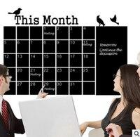 Nouvelle génération pvc calendrier de l'environnement autocollants maternelle étude bureau toile de fond monochrome stickers muraux
