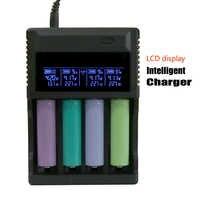 Evewher szybkie ładowanie baterii 18650 ładowarki do akumulatorów dla 26650 18650 14500 wskaźnik LCD pokaż napięcie prądu AAA AA ładowarka