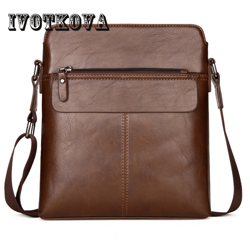 IVOTKOVA  Brand Pu Leather Men Messenger Bag Casual Crossbody Bag Business Men's Handbag Bags for gift Shoulder Bags Men aerlis brand men handbag canvas pu leather satchel messenger sling bag versatile male casual crossbody shoulder school bags 4390
