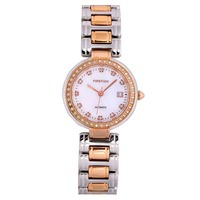 Automatic Lady Watch Luxury Mechanical watches All Stainless Steel bracelet Watches Water resistant diamond stone
