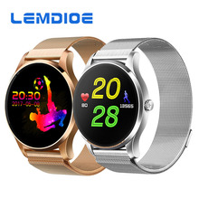 LEMDIOE K88H Heart Rate Smart Watch 1.22inch Touch Screen Watch Support Call SMS reminder Sleep Monitor relogio inteligente