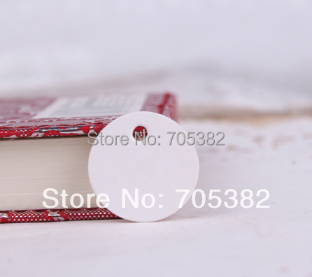 Dia: 2cm (With Cord ) Small White Tag Bookmarks Paper Sewing Tags Hang Tag (ss-581)