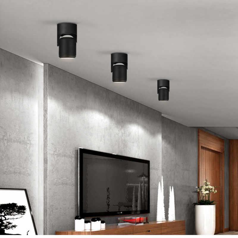 180 градусов вращающийся потолочный светильник с регулируемой яркостью 7 Вт 10 Вт 15 Вт 20 Вт COB Led вмонтированные светильники Потолочный точечный свет + светодиодный драйвер
