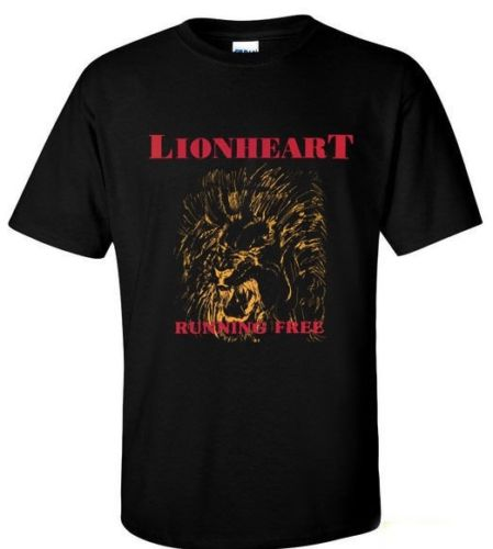 Hot LIONHEART Running Free hardcore punk Madball Black T-shirt Tee Different Colours High Quality 100%