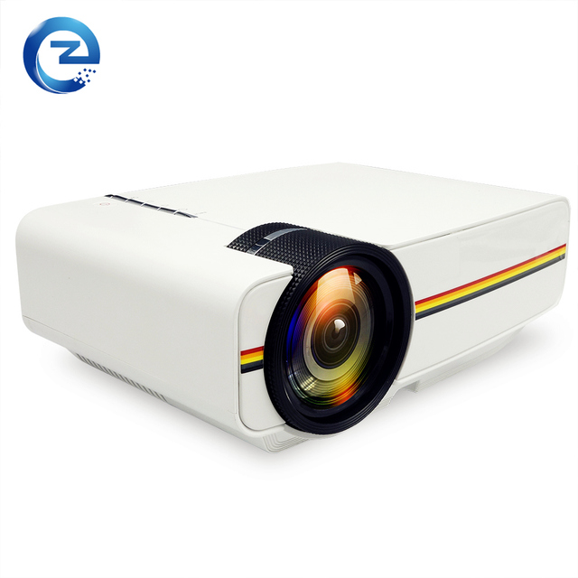 New arrival LCD Portable 1000Lumens 800*480 Pixels 1080P Project Home Theater Movie for Video Games AC3 HDMI VGA AV SD YG-400