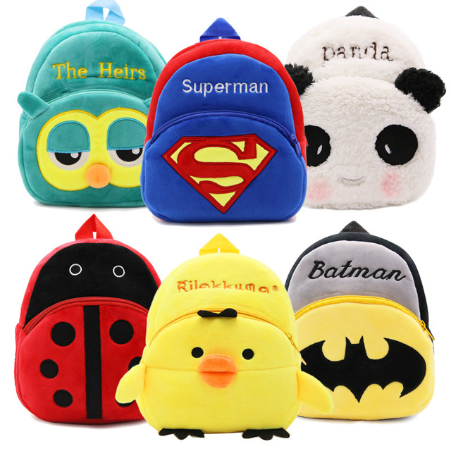 Kindergarten Backpack Toy Baby School-Bag Children Student Cartoon Cute Gril Plush