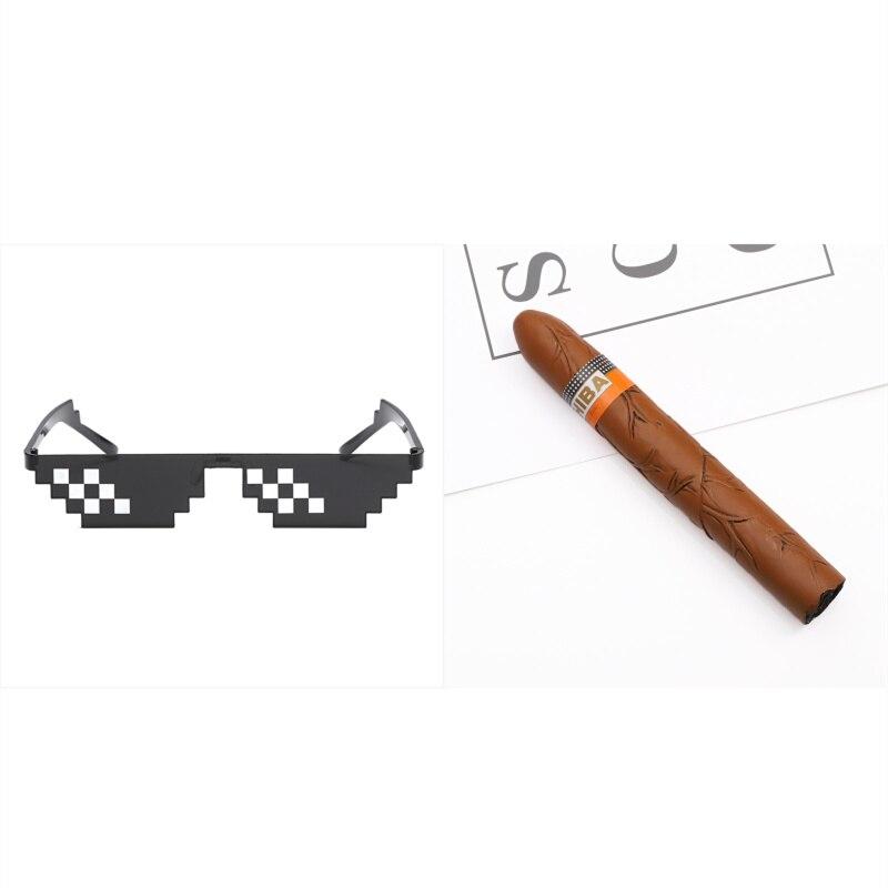 G Glasses cigar