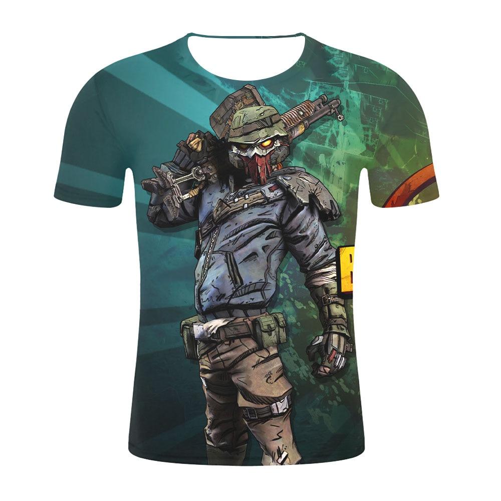 2019 New Game Cosplay Streetwear Harajuku Short Sleeves Tops Borderlands 3 Tshirt Men/Women 3D Print  Mens T-shirt Plus Size 4XL