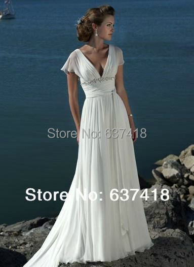 Playa de la gasa Simple vestido de boda Vestidos de Novia de la boda ...