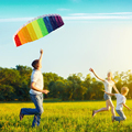 Linha dupla Parafoil Software Set Rainbow Kite com Bar 30 m Nylon Linha de Vôo de Controle de Energia Trança Vela Pipas