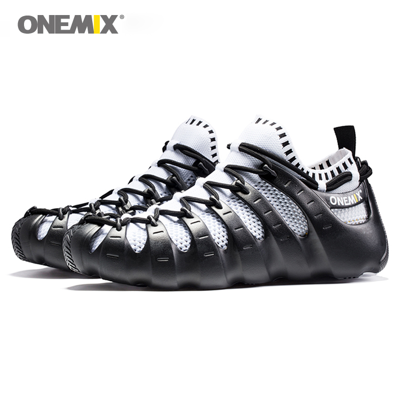 ONEMIX Roman Shoes Outdoor Walking Shoes Sock like Sneakers Environmental Jogging Shoes Men s Running Shoes