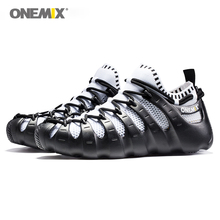 Купить с кэшбэком Onemix Rome shoes shoes outdoor walking shoes sock-like sneakers environmental jogging shoes men's running shoes women sneakers