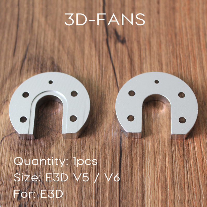 1Pc Free Shipping Reprap Kossel For E3D V5 V6 Hot End Aluminum Alloy Groove Mount Horse's Hoof CNC 3D Printer Part High Quality