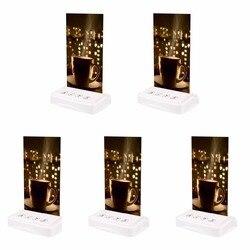 5 piezas botón de llamada camarero 433 Mhz Tarjeta de mesa Pager para inalámbrico llamada Sistema de paginación té Bar Catering restaurante equipos