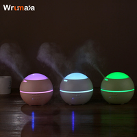 Wrumava 150ml LED Color night Light Ultrasonic Mute Humidifier Aroma Diffuser Purification Air for Baby Office Home Bedroom