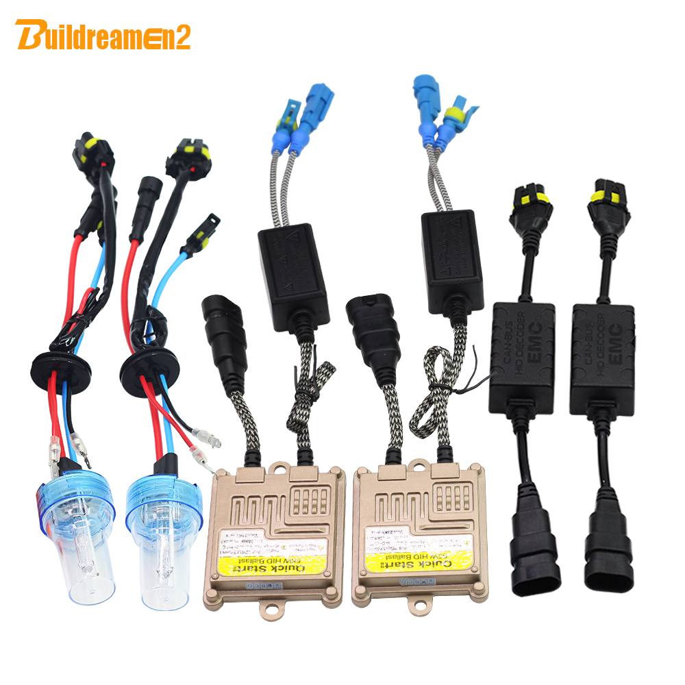 Buildreamen2 55W 880 881 H27 Canbus HID Xenon Kit Lamp AC Ballast Decoder No Error Anti Flicker Car Light Headlight 3000K-8000K buildreamen2 55w 880 881 car light hid xenon kit 3000k 8000k anti flicker no error ac ballast bulb canbus adapter auto headlight