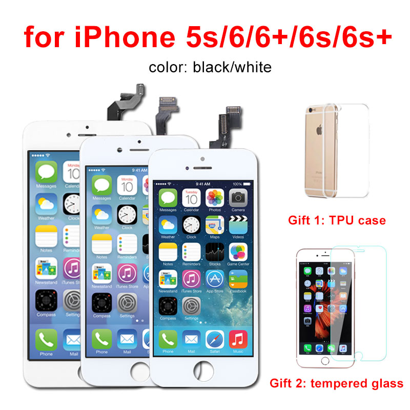 AAA Quality LCD For Apple iPhone 6 6G Screen LCD Display With Touch Screen Digitizer Assembly Replacement Black White iphone