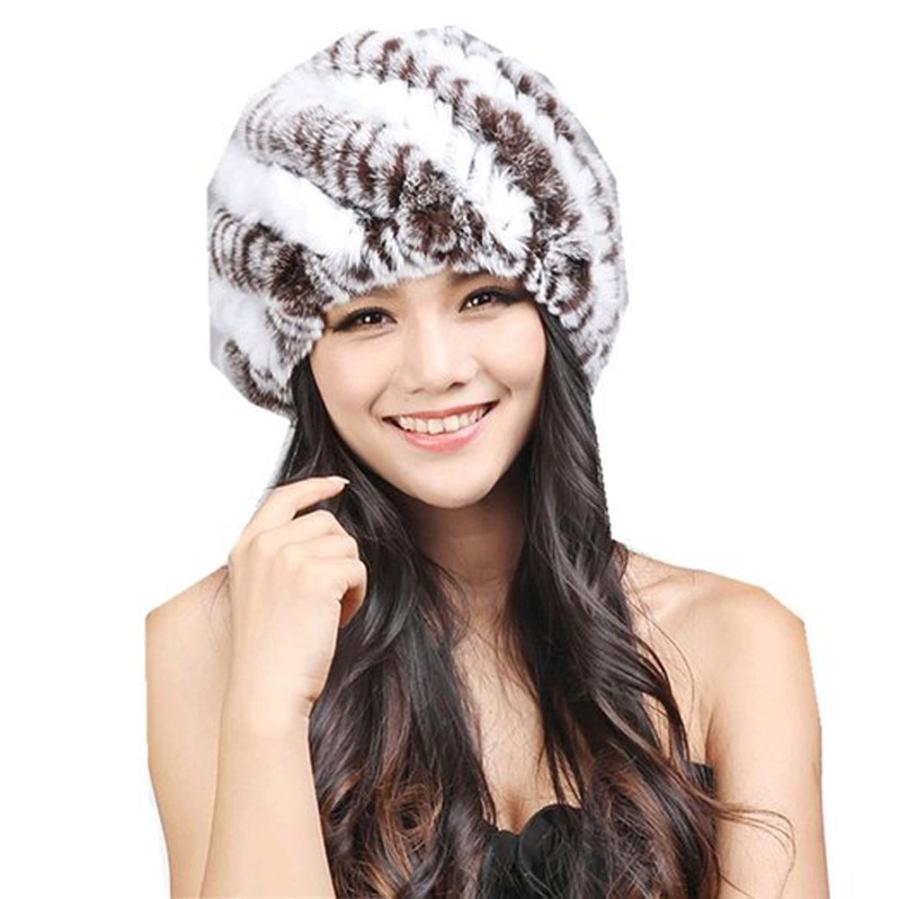 Women Hats Handmade Warm Caps Female Headgear Winter Keep Warm ... a14fe79a9060