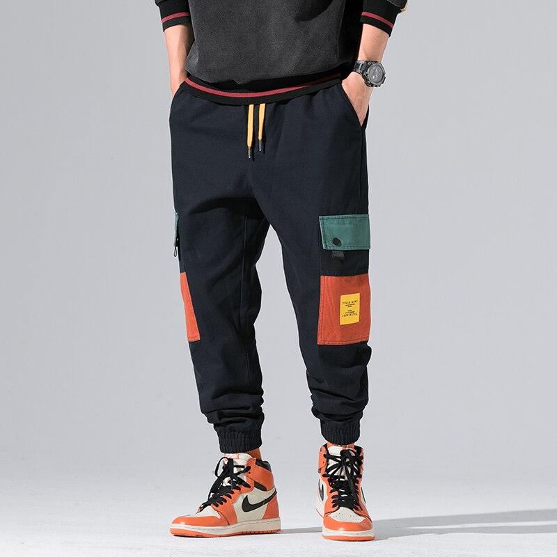 2019 New Autumn Military Track Pants Men Fashion Brand Trousers Men Streetwear Mens Joggers Pants Cargo Navy Kargo Pantolon