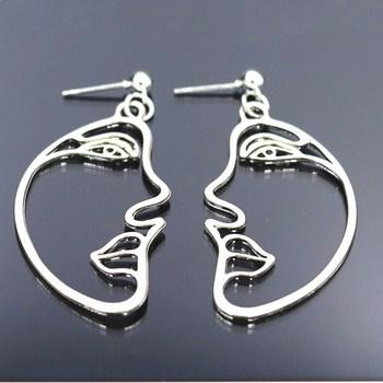 Hollow Face Drop Earrings For Women 1