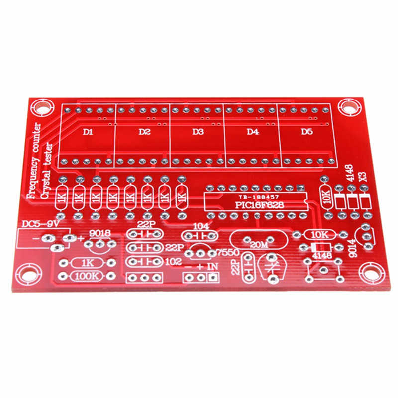 US $6 3 50% OFF|1Hz 50MHz Five LED Display Frequency Counter With Frequency  Oscillator Kit PIC microcontroller Programmable Frequency-in Frequency