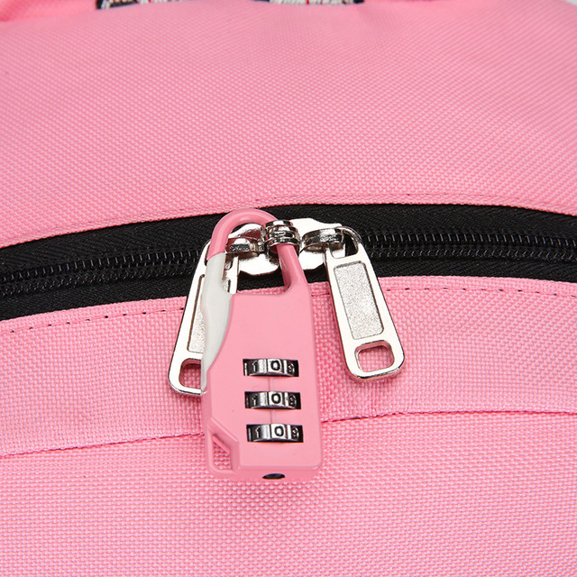 Anti Theft Large School Backpack Bags With Lock For Teenage Girls USB Women Book  Big High Youth Leisure College 4