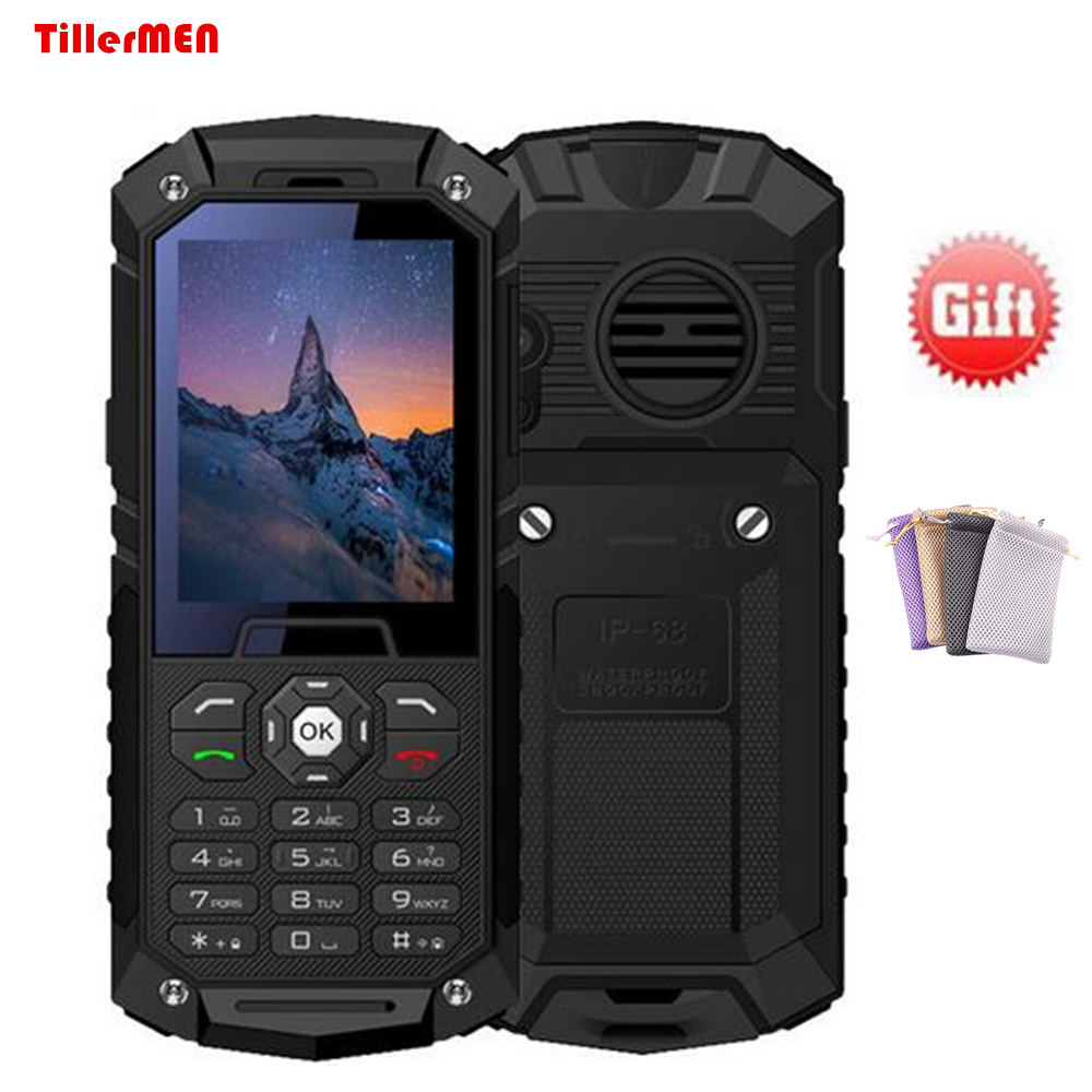 0bc315eb3 Rungee m8/S6 Waterproof Phone Russian Keyboard Big battery IP68 Waterproof  phone flashligh