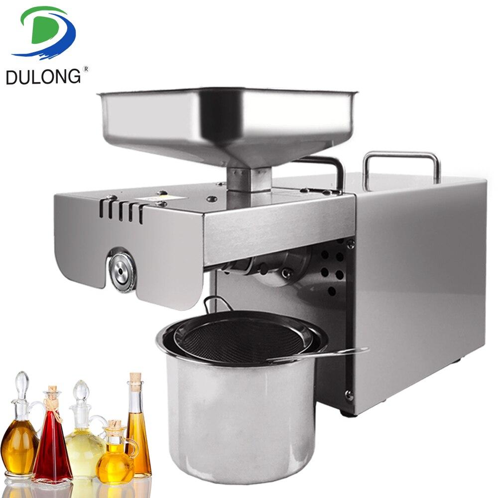 Marque Mini pressage D'huile Machine De Soja Usage Domestique Huile Presseurs Froid Arachides Électrique En Acier Inoxydable Presse À Huile Machine