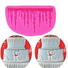 1pc Pop 3D Icicle Silicone Mould Fondant Kitchen Cake Mold for Chocolate Baking Tool FA5-13L