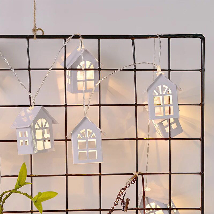 Image 4 - 1.5M 10pcs LED Christmas Tree House Style Fairy Light Led String wedding natal Garland New Year christmas decorations for home-in LED String from Lights & Lighting on