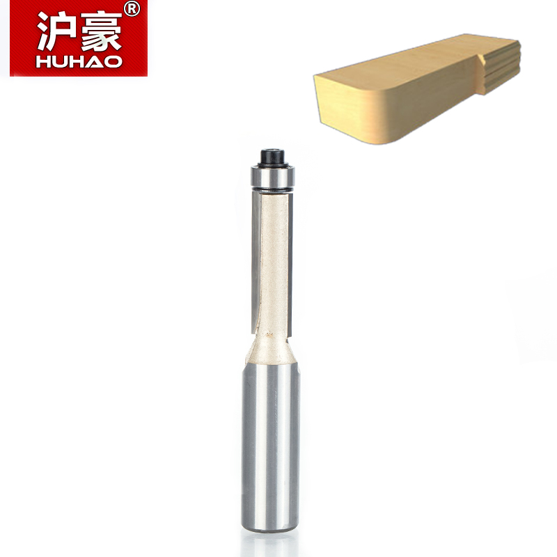 "Image 2 - HUHAO 1pcs 1/4"" 1/2"" Shank Flush Trim Router Bits for wood Trimming Cutters with bearing woodworking tool endmill milling cutter-in Milling Cutter from Tools"