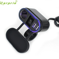 Dependable 12V 24V Waterproof Car Motorcycle Dual Socket Charger USB Power Adapter For Tablet PC Phone