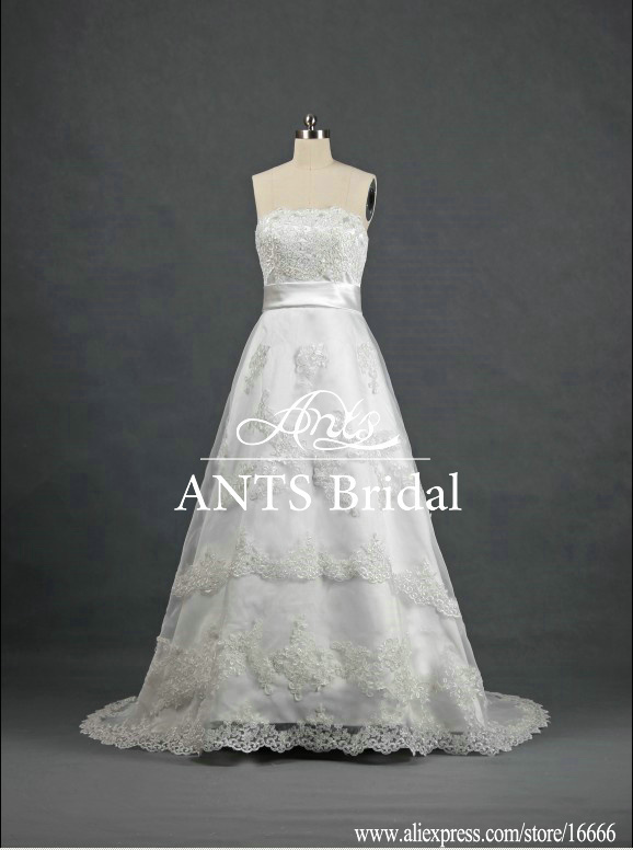 Bride Elegant Real Strapless Grecian Style Wedding Dress Empire RW250 In Wedd