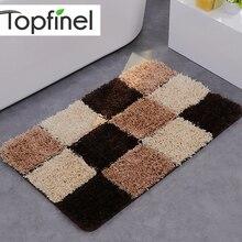 Doormat Plaid Bath Mat Anti Slip Rug Door Carpet for Bath Living Room Bedroom Toilet Hallway Soft Rug for Kids Decor Floor Mat
