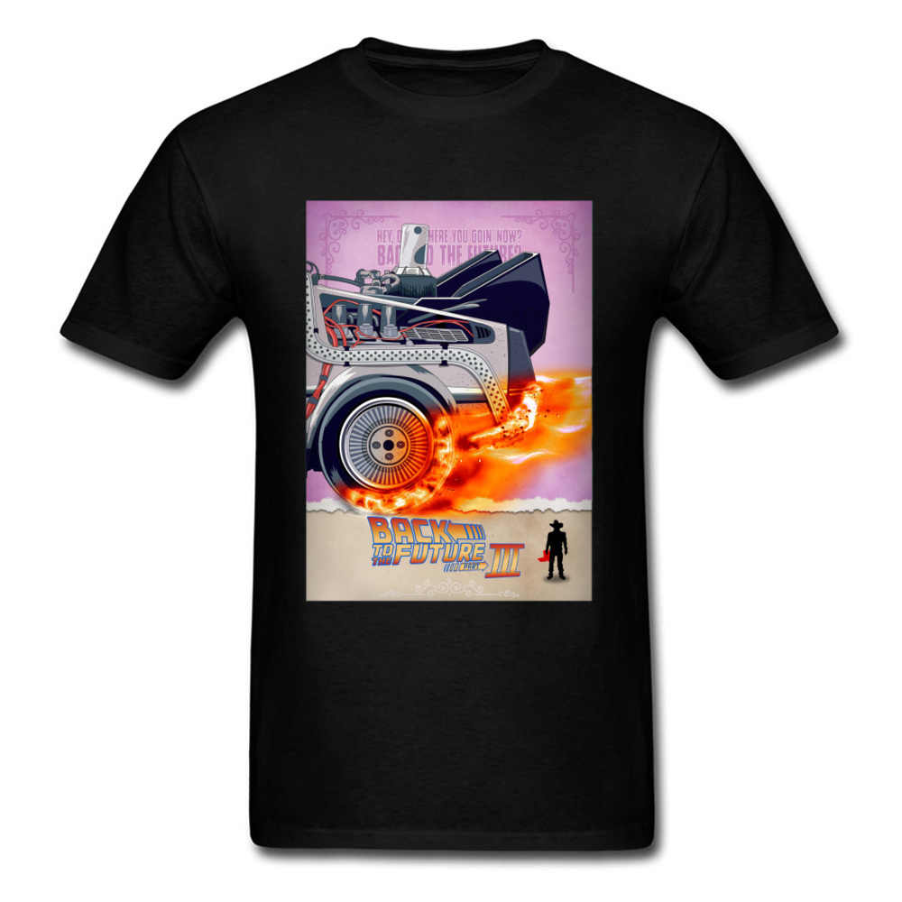 Futuro Comic Book T-Shirt Degli Uomini di Ritorno Al Futuro 2 T Camicette Marty DMC Delorean Magliette e camicette Magliette 100% Cotone Nero tshirt Divertente Abbigliamento