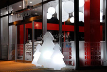 цена 1 piece outdoor/indoor waterproof christmas decoration colorful changeable rechargeable LED light tree of led floor lamp онлайн в 2017 году