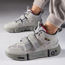 Vintage Dad Men Sneakers 2019 New Kanye West Hip Hop Dancing Light Breathable Casual Hook Loop Zapatos Hombre