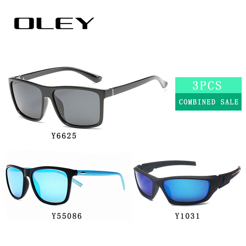 3PCS Combined Sale OLEY High quality polarized men sunglasses  popular combo for 2019 Multan