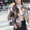New Top Sale Low Factory Discount 100% True Real Fox Fur Coat Natural Fox Fur Jacket Lady Overcoat Luxury Waistcoat DFP943