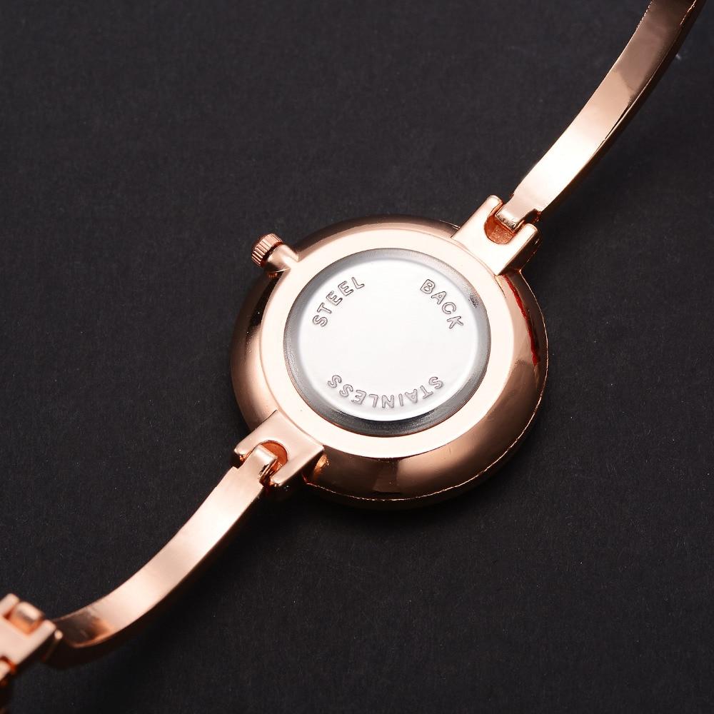 Lvpai rose goud vrouwen armband horloges mode luxe quartz-horloges - Dameshorloges - Foto 4