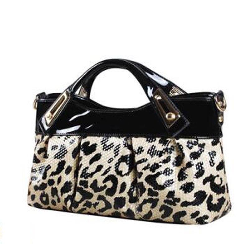 Women Purses and handbags 2018 new split leather leather hand bag woman small Leopard clutch purse envelope bag ladies handbags