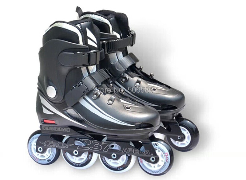 Free Shipping Adult's Roller Skates  Black White Labeda  Good Choice For Beginner S237