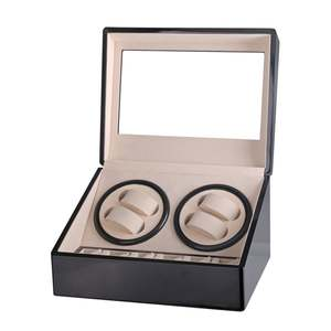 Case-Holder Jewelry-Winder-Box Winders Watch-Display Mechanical-Watch Automatic Black