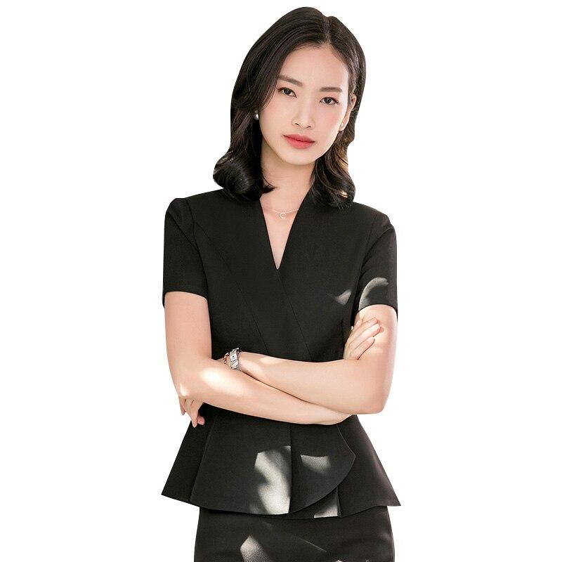 Pink Elegant Formal Office Women Ladies Uniform Business for work Women Blazer or pants Suits slim Career Skirt Suits Plue size