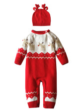 Winter baby cotton Climbing clothes unisex Leotard with hat