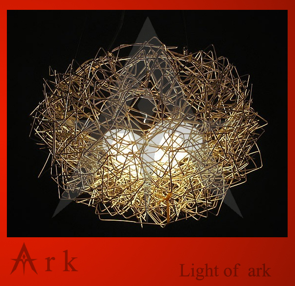 Ark light pendant lights new aluminum wire birds nest chandelier ark light pendant lights new aluminum wire birds nest chandelier ceiling light pendant lamp lighting mozeypictures Image collections