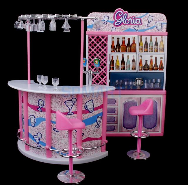 Exceptionnel New Arrivals 2015 Plastic Gloria Dollhouse Furniture Bar Play Set For Dolls  HOT SALE