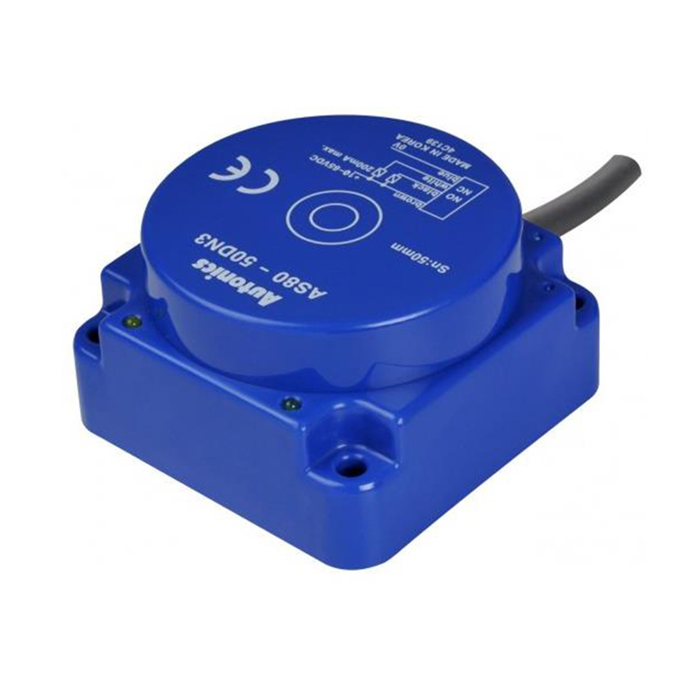 Nouveau capteur de proximité inductif longue Distance 50mm Autonics AS80-50DP3 AS80-50DN3 capteur de sortie NPN PNP