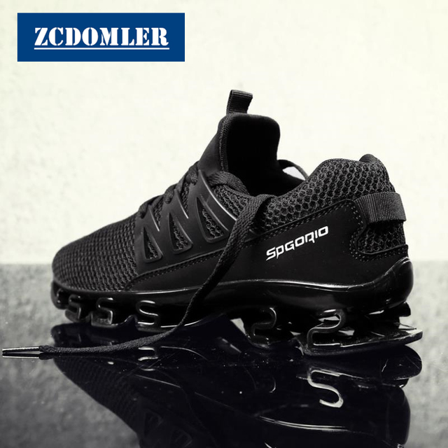 ZCDOMLER Big Size 38-48 Sneakers Baskets Homme Sport 2019 Breathable Men Trainers Summer Mesh Casual Shoes Red Zaptillas Hombre